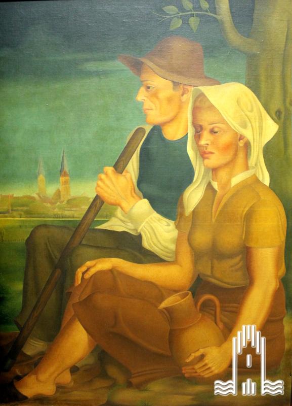 K.A. Lattner - Ehepaar vor Anklam
