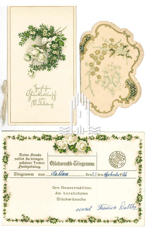 Glückwunsch- Karten und Telegramme