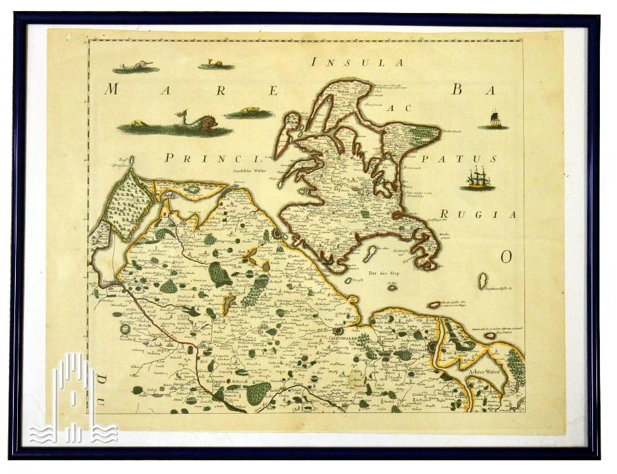 Teil-Karte vom Herzogtum Pommern