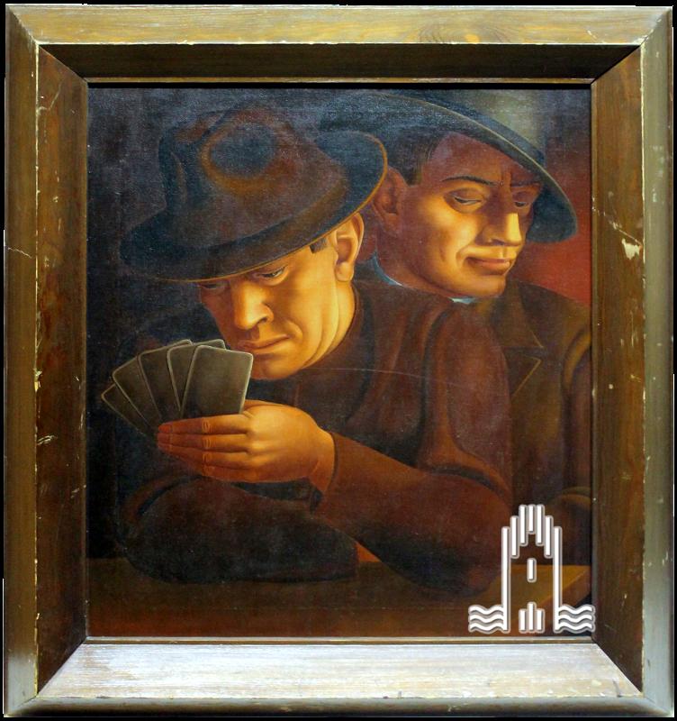 K.A. Lattner -  Zwei Kartenspieler