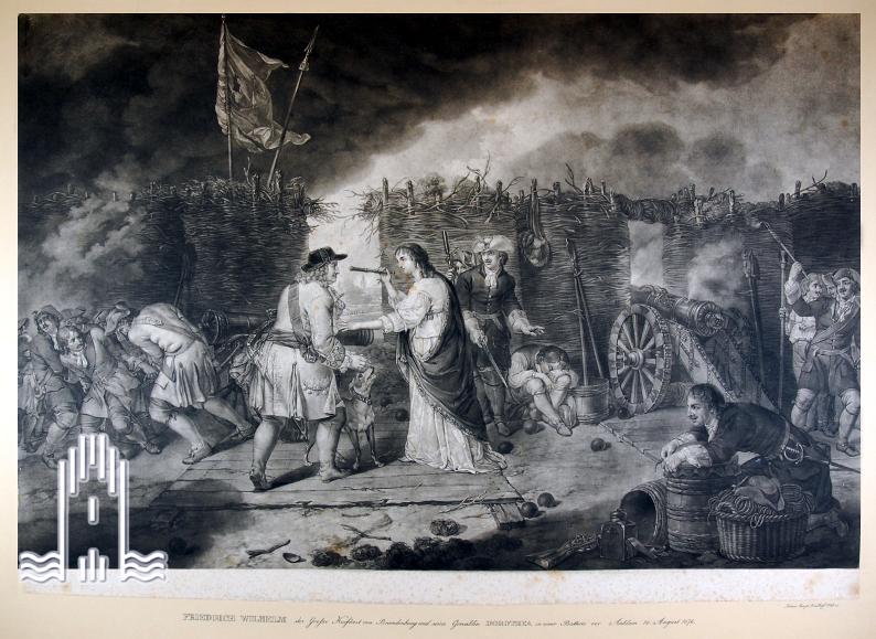 Der Große Kurfürst von Brandenburg, in der Belagerungsstellung vor Anklam