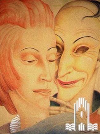 K.A. Lattner - Maskierter Mann mit Frau
