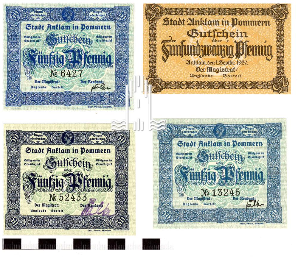 Anklamer Notgeld aus den 1920er Jahren