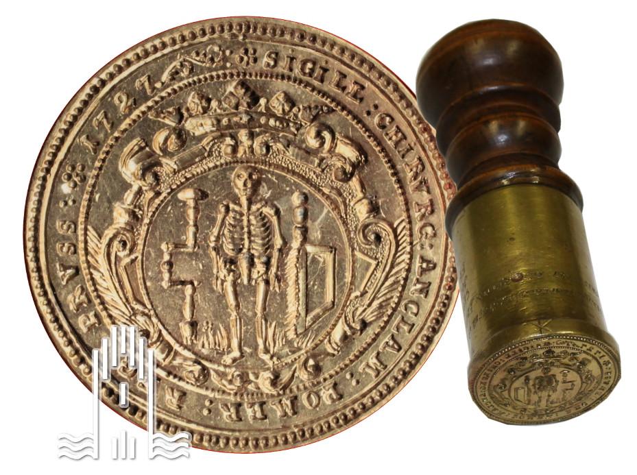 Siegel der Anklamer Chirurgen, 1727