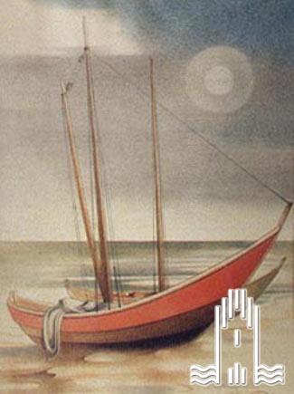Segelboote am Strand