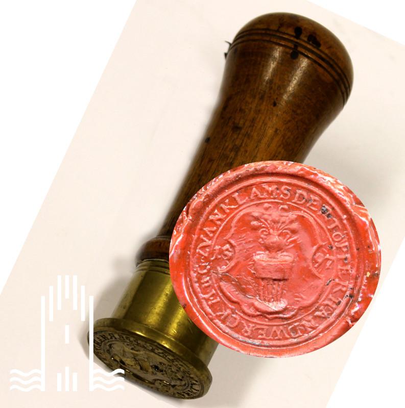 Petschaft der Töpferinnung zu Anklam 1597