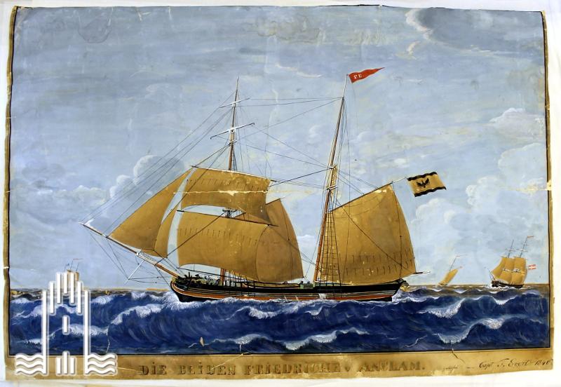 """Segelschiff """" Die beiden Friedriche"""""""