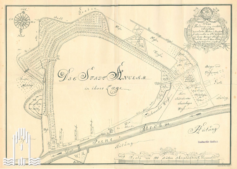 Stadtplan von 1762