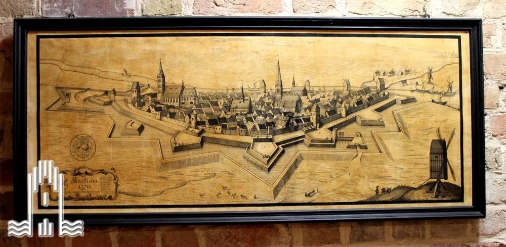 Paul Schmidt -Ansicht von Anklam um 1570