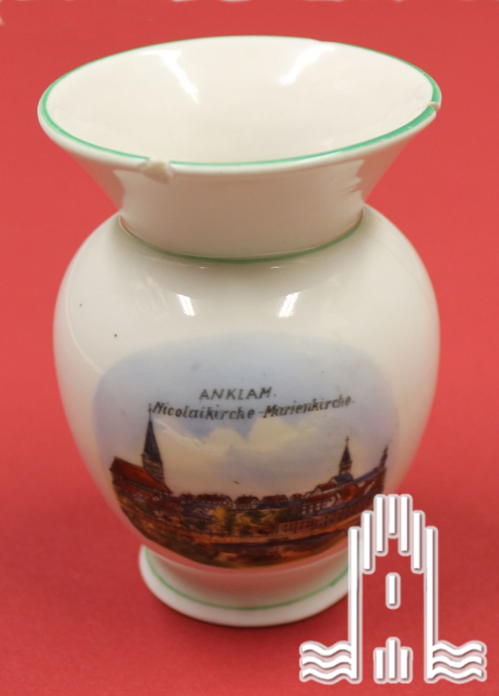 Kleine Vase mit Anklamer Panorama