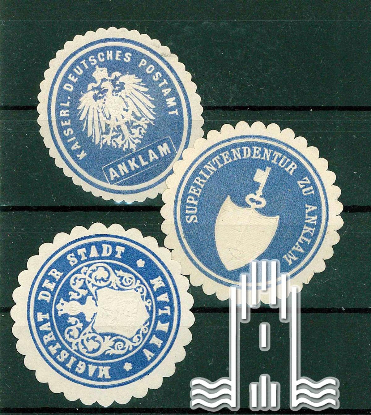 Siegel-marken der Stadt Anklam
