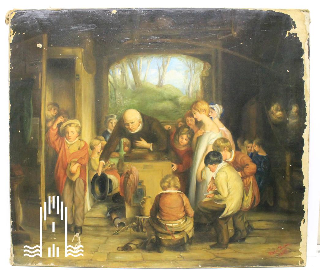 Kati Laben - alter Mann inmitten von Kindern