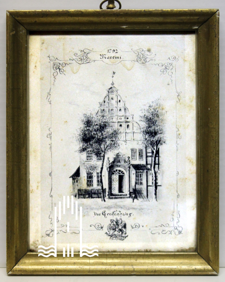 Federzeichnung, Greifenhaus 1792