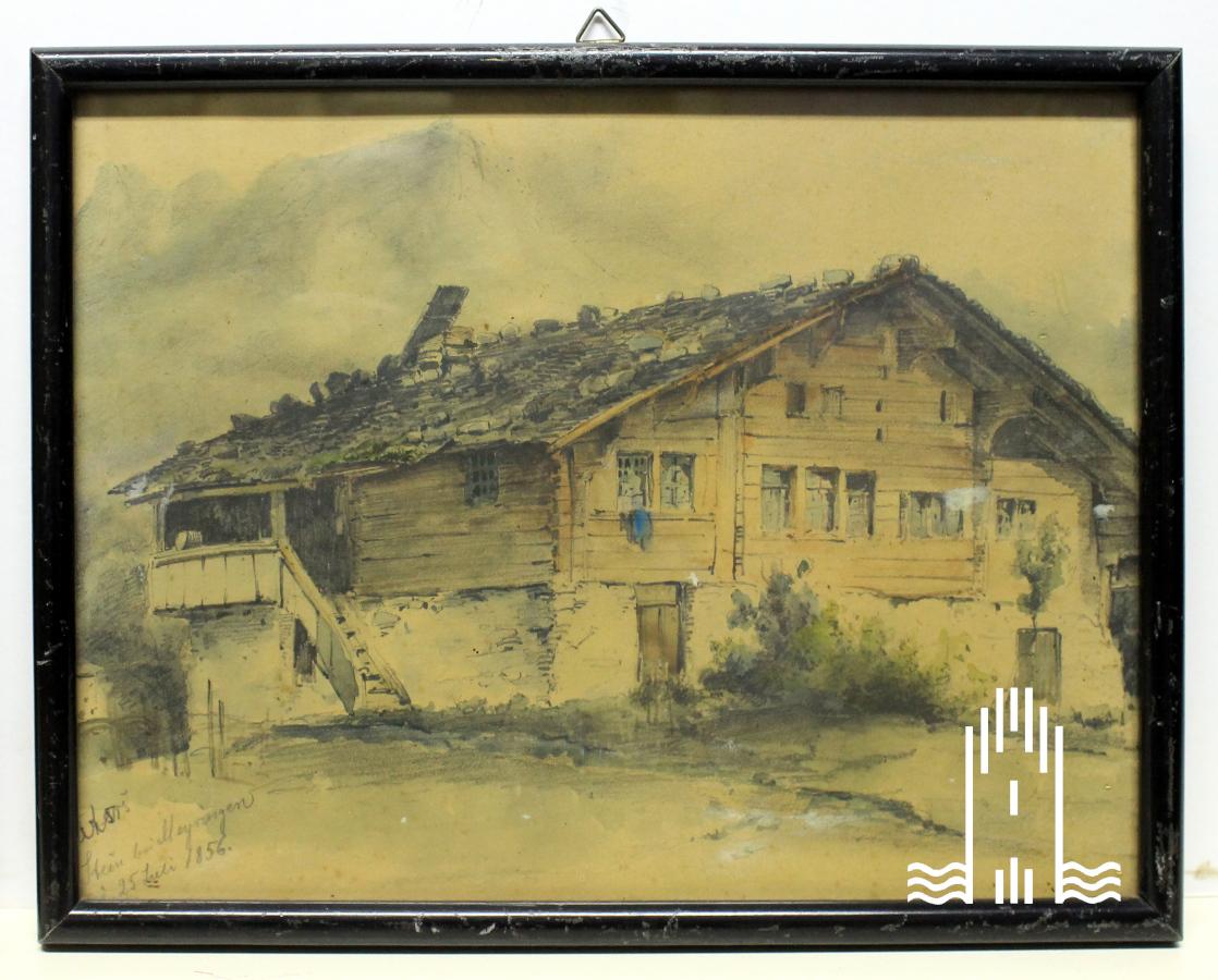 Bernhard Peters - Gebirgslandschaft mit Bauernhaus