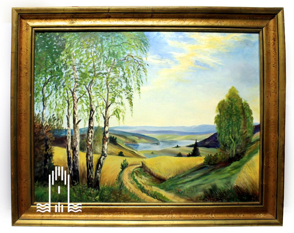 Rudi Marx - Ölgemälde einer Landschaft