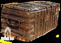 Truhe aus Eichenholz mit Eisenbeschlag